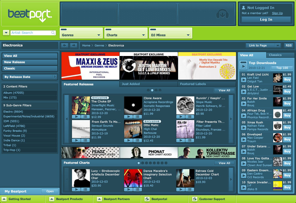 Beatport Feature - 12.22.10